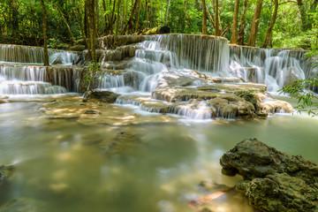 Huay Maekamin Waterfall Tier 6 (Dong Pee Sua) in Kanchanaburi, Thailand
