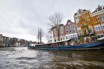 Beautiful view of Amsterdam City, Netherlands