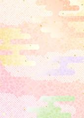 桜 パステル 和柄 背景