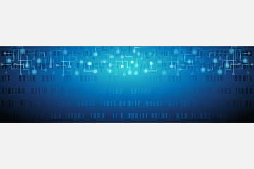 Tech Internet Wide Banner Vector Illustration 1