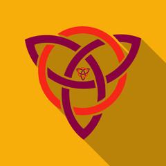 Celtic trinity knot, Helm of Awe, aegishjalmur, tattoo. Scandinavian symbols of Vikings, travelers, mascot. Celtic tattoo boho style, t-shirt design