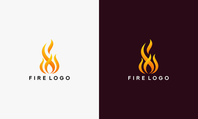 3D Fire Flame Logo design vector template vector