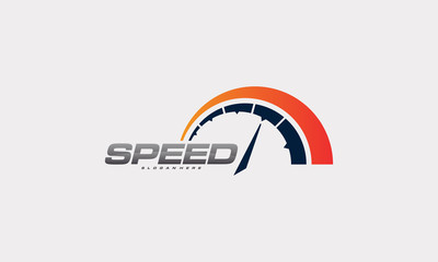 Speed and Fast Logo designs vector, speedometer logo designs template