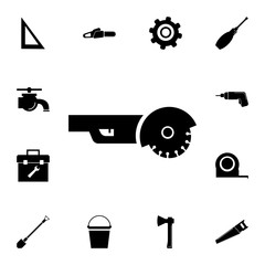 angle grinder icon. Set of construction tools icons. Web Icons Premium quality graphic design. Signs, outline symbols collection, simple icons for websites, web design, mobile app