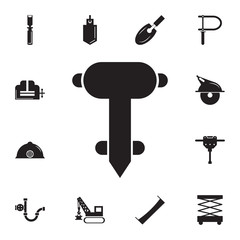 Construction jackhammer icon. Set of construction tools icons. Web Icons Premium quality graphic design. Signs, outline symbols collection, simple icons for websites, web design