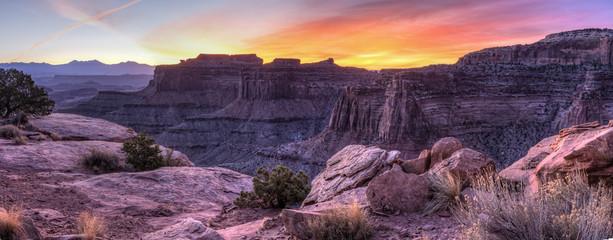 Shafer Canyon Sunrise Panorama