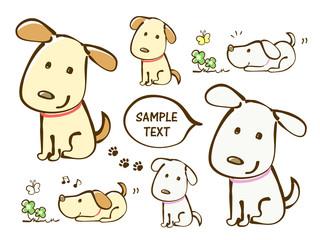 犬 かわいい イラスト