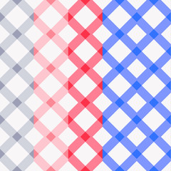 Set of four seamless color plaid patterns