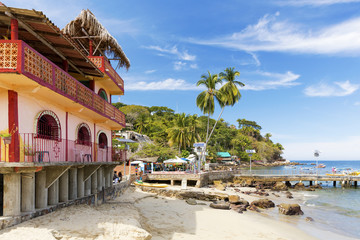 The tropical coastal town of Yelapa, Mexico Wall mural