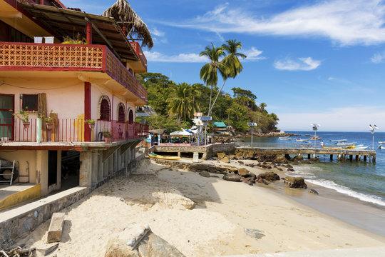 The tropical coastal town of Yelapa, Mexico