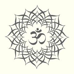 Mandala with omkara sign inside
