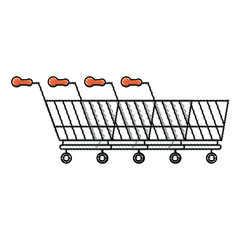 Line of Shopping Carts icon