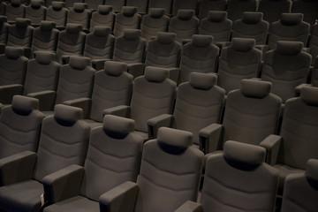 Cinema hall with beige armchairs