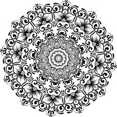 floral round lace mandala