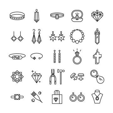 Jewelry shop icons.