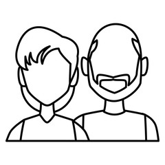 Couple avatar cartoon