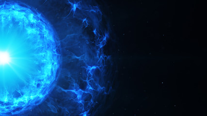 Blue plasma power ball and free space