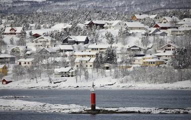 Norwegen, Norway, Finnsnes, Winterlandschaft
