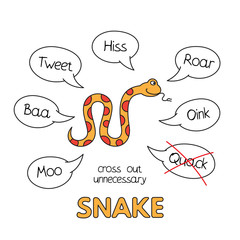 Cartoon Snake Kids Learning Game