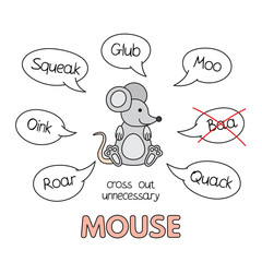 Cartoon Mouse Kids Learning Game
