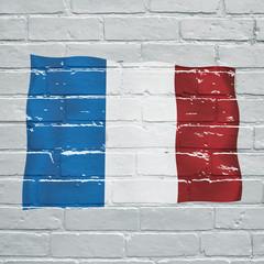Graffiti, drapeau français