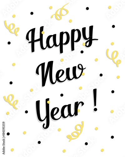 Happy New Years 2018 vector Greeting card\