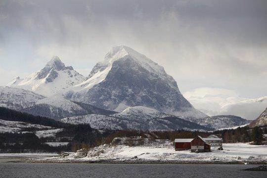 Norwegen, Norway, Ørnes, Winter