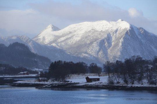 Norwegen, Norway, Ørnes, Winterlandschaft, Winter