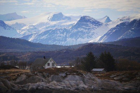 Norwegen, Norway, Ørnes, Landschaft