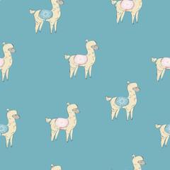 Cute Seamless simple alpaca pattern