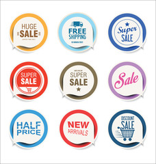 Retro vintage badges vector illustration collection