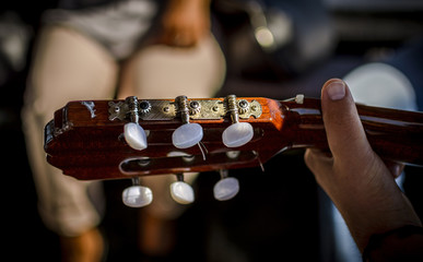 hand and headstock