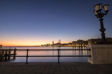 Skyline in Bari, Italy, Dawn