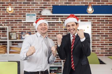 Happy winners celebrating Christmas