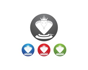 King cobra logo design template