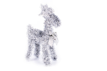 Merry Christmas! reindeer Christmas model decorations isolated on white background
