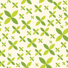 Ornamental abstract seamless quatrefoil pattern.