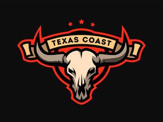 Bull skull emblem, logo.