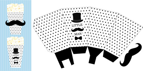 Printable Template For Little Mans Birthdaybaby Shower Boy Party