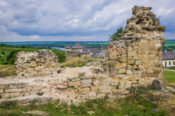Remains of mosque in Khotyn Fortress in Ukraine