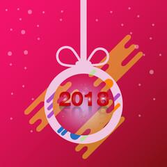 Happy new year 2018 ball Design vector