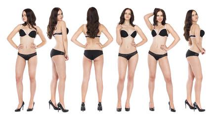 Collage six fashion models