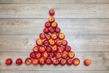 Christmas tree made from apples