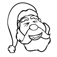 santa claus face outline