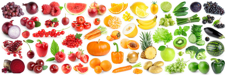 Foto auf Acrylglas Fruchte Collection of fruits and vegetables