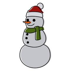 Snowman winter cartoon