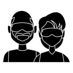 Winter couple avatar