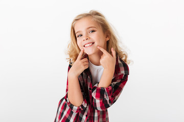 Portrait of a cute little girl smiling
