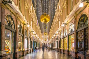 Foto op Aluminium Brussel The historical Galeries Royales Saint-Hubert shopping arcades in Brussels