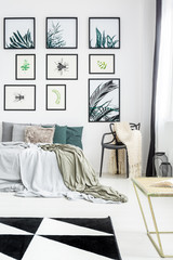 Botanic style bedroom with gallery